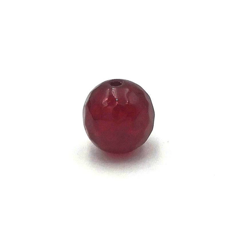 Demanic Bead Faceted Red Stone