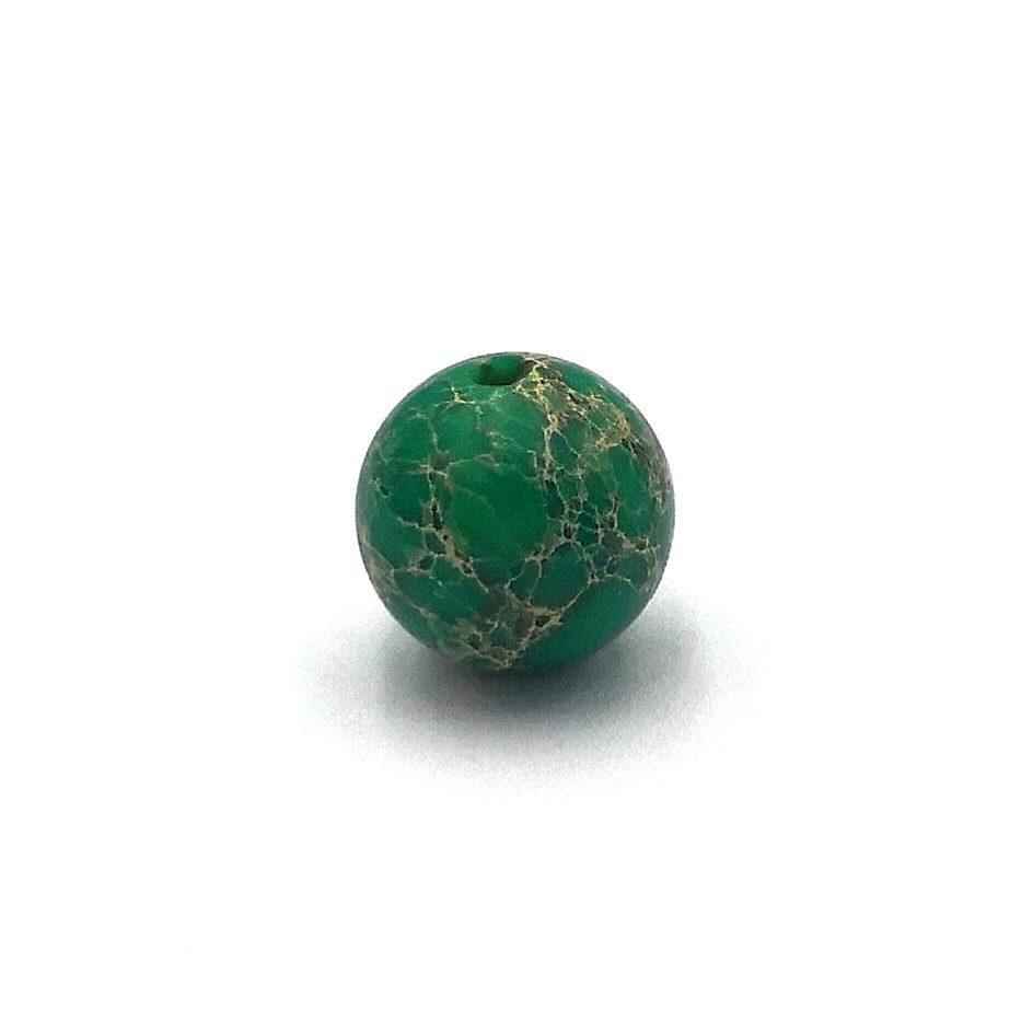 Demanic Bead Green Sea Sediment Jasper