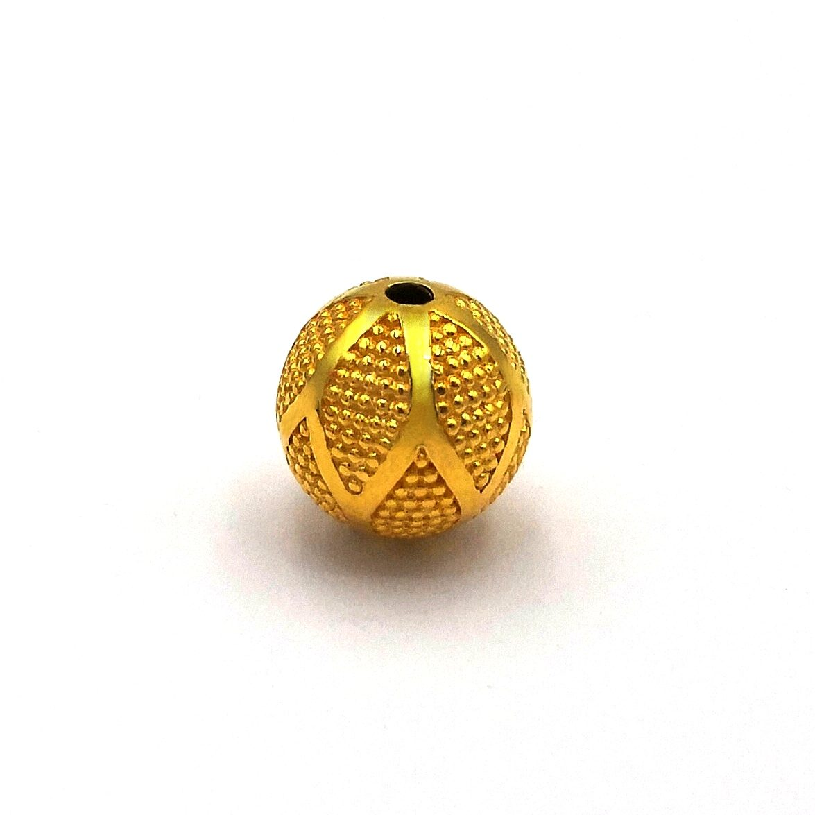 12 mm 22K Gold Plated 925 Sterling Silver Bali Bead