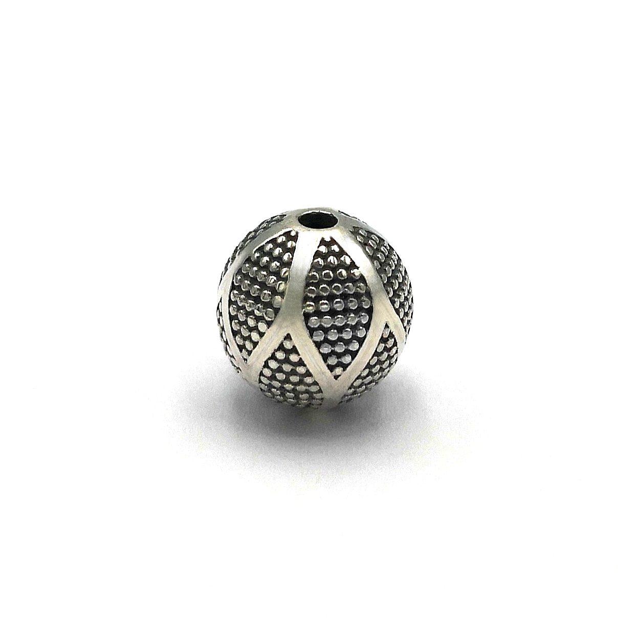 12 mm 925 Sterling Silver Bali Bead